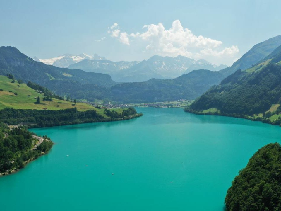 Swimming in Lake Lungern, Switzerland - Tip from Emma's Hotel B&B
